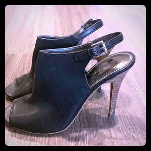 Coach ankle strap heel